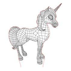 Unicorn 3d illusion led lamp vector file for CNC - 3bee-studio