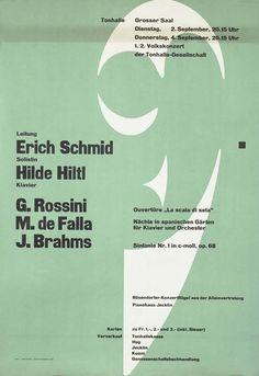 Schmid, Hiltl - Rossini, de Falla, Brahms by Muller-Brockmann, Josef