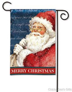 Christmas Magnet Works, the manufacturers of MailWraps magnetic mailbox covers, Yard DeSigns magnetic art and MatMates doomats, BreezeArt house flags are of the highest quality with beautiful designs printed onto 600 denier polyester. Christmas Garden Flag, Santa Christmas, Outdoor Christmas, Father Christmas, Country Christmas, Garden Flag Stand, Garden Flags, Small Flags, Thing 1