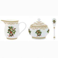 Εορταστική πρόταση για σας που τα Χριστούγεννα έχουν χρώμα. Για τον καφέ ή το τσάι , γαλατιέρα και ζαχαριέρα με χρυσή μπορντούρα και διακριτικό σχέδιο με γκι. Χωρητικότητα: ζαχαριέρα 240ml γαλατιέρα 280ml Sugar Bowl, Bowl Set
