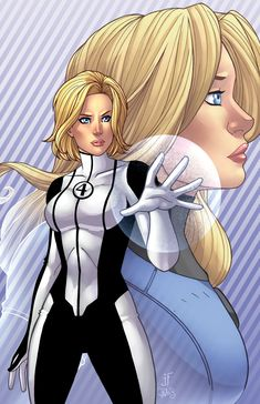 and i were asked to draw& the Invisible Woman in her current Marvel Now! costume in the fore ground and her costume worn in the Mark Millar run of Fantastic Four. Heros Comics, Marvel Comics Art, Marvel Heroes, Marvel Characters, Marvel Women, Marvel Girls, Comics Girls, Marvel Females, Fantastic Four