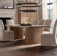 Reclaimed Russian Oak Plank Rectangular Dining Tables   All Rectangular Tables   Restoration Hardware