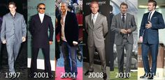 Stylistyczne przemiany: David Beckham - http://janadamski.eu/2016/02/stylistyczne-przemiany-david-beckham/
