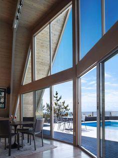 bromley caldari A frame re think fire island designboom