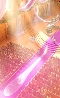 Tangled Wedding. I noticed that her train is EXTREMELY long and then it hit me. LIKE HER HAIR ONCE WAS