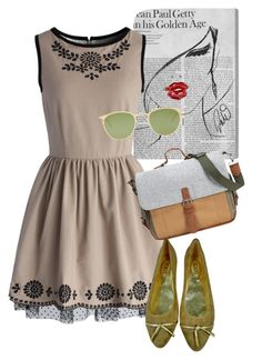 """dress"" by masayuki4499 ❤ liked on Polyvore featuring Oliver Gal Artist Co., Chicwish, Tod's, Mykita and Something Strong"