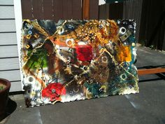 recycled art i made..I can make one similar to this....or cutomized recycled art for you..... FOR SALE