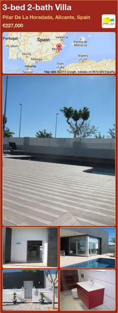 3-bed 2-bath Villa for Sale in Pilar De La Horadada, Alicante, Spain ►€227,000