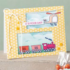Simply Stamping with Narelle: Fun For Kids Move Along, Travel Cards, Cards For Friends, Kids Cards, Creative Cards, Greeting Cards Handmade, Stampin Up Cards, Stencil, Cards
