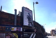 PJ Harvey backlit portrait on Shoreditch High Street