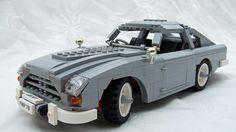 Lego James Bond Aston Martin from Goldfinger! Lego Mini, Lego Wheels, Lego Universe, Lego Racers, Construction Lego, Lego Police, Amazing Lego Creations, Aston Martin Db5, Vintage Lego