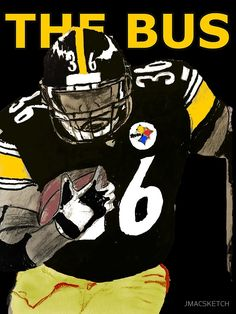 """b55c1e03e Pittsburgh Steelers Hall of Fame running back. Jerome Bettis. """"The Bus""""."""