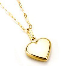 Corazón y cadena de oro