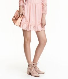 Shoes with lacing   Light beige   Ladies   H&M US