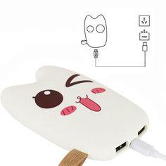 Dual USB Battery Charger 8000mAh Cute 3D Cartoon Power Bank Gift Fun Cell Phone #UnbrandedGeneric