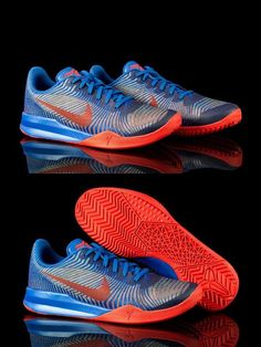 4652c669d73b Youth 158973  Nike Kobe Mentality Ii Kb Youth Basketball Shoes Blue Red Size  6.5 -
