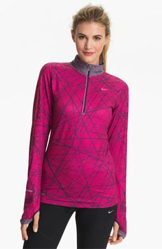 Nike 'Element' Print Half Zip Top available at Nordstrom