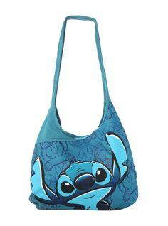 Disney Lilo & Stitch Blue Hobo Bag   Hot Topic