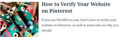 Pinterest is a valuable (and free) marketing tool for small businesses and creators.   It boasts 250 million visitors each month and reaches a whopping 83 percent of U.S. women between the ages of 25 and 54, according to Hootsuite.   If this is your business's target audience, you should be taking advantage of Pinterest.  To make the most of this social media platform, you'll want to verify your website on Pinterest. Here's how to verify your WordPress.com site on Pinterest and why you… Marketing Tools, Digital Marketing, Your Website, Free Market, Target Audience, Verify, Small Businesses, Wordpress, Platform