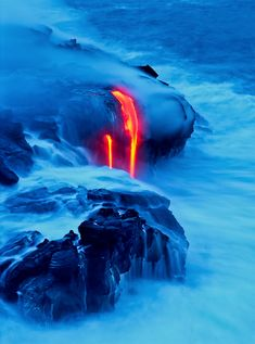 Flow Into The Ocean: Lava Photography by G. Brad Lewis