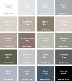 Grey Color Names Different Shades Of Grey Names 3 To Color Name Webreportclub ~ Caravellekiralama Colour Shades With Names, Grey Color Names, Shades Of Gray Color, Best Gray Paint Color, Grey Colors, Paint Colours, Gray Pantone, Pantone Color, Grey Colour Chart