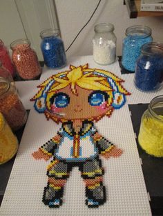 Len - Vocaloid hama perler beads by Aenea-Jones on deviantART