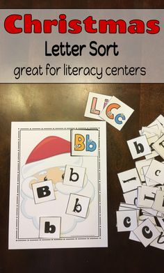 Your students will love sorting letters with this fun Christmas themed letter sort activity!