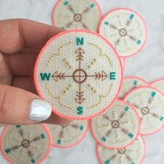 Compass Iron On Patch – Patches – Embroidered Applique – Neon – Wildflower + Co. – Multiples 54 Pretty Street Style Outfits That Always Look Fantastic – Compass Iron On Patch – Patches – Embroidered Applique – Neon – Wildflower + Co. Cute Patches, Diy Patches, Pin And Patches, Iron On Patches, Embroidery Patches, Embroidery Patterns, Hand Embroidery, Embroidered Name Patches, Cute Pins