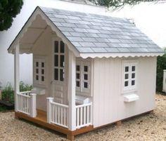 casinha de boneca de madeira branca                              …