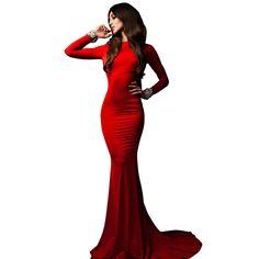Long Sleeve Mermaid Prom Dress