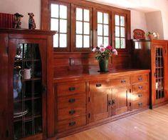 Dining Room: A Sylvanus Marston Craftsman Style House  1185 N. Marengo Avenue, Pasadena, CA.   Architect: Sylvanus Marston, 1911  Builder: John H. Simpson