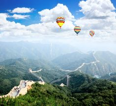 A hot air balloon ride over the Great Wall of China? YES, please.