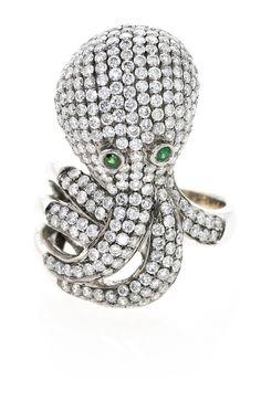 An octopus-shaped ring | Balclis Barcelona  www.balclis.com #octopus