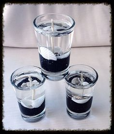 Set of 3 Gel Candles in Shot Glasses by KimberlyLynnKandles
