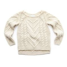 This cable knit jumper from Leigh Tucker Willow is soft and comfortable to match. It incorporates a relaxed, collarless neckline and will prove itself endlessly versatile in any girl's autumn/winter wardrobe