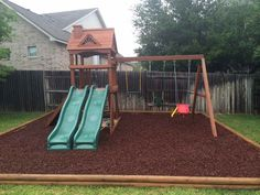 Outdoor : How To Build A Swing Set Wood Swing Sets' Metal Swing Sets' How To Build A Swing Set Frame along with Outdoors Build A Swing Set, Wood Swing Sets, Swing Sets For Kids, Backyard Swing Sets, No Grass Backyard, Kids Swing, Backyard Playground, Backyard For Kids, Playground Ideas