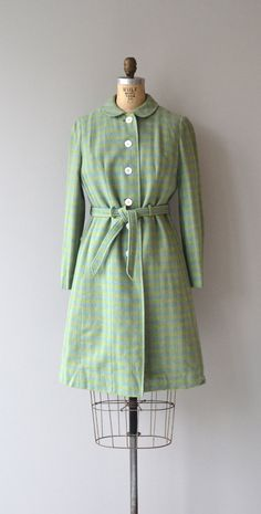 Freshly Minted coat and dress 1960s plaid wool by DearGolden