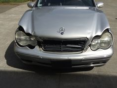 C240 Mercedes Benz has seen better days major front end damage going to be retired soon came into Auto Body and More in Santa Rosa