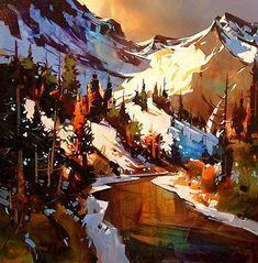Late Autumn Kananaskis, by Michael O'Toole (b1963; Vancouver, British Columbia, Canada)