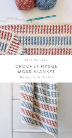 Daisy Farm Crafts - Crochet blanket patterns - Free Pattern – Hygge Moss Blanket – Free Crochet Pattern in Red Heart Hygge yarn by Daisy Farm - Crochet Afghans, Crochet Motifs, Baby Blanket Crochet, Crochet Stitches, Crochet Blankets, Baby Blankets, Baby Afghans, Crotchet Patterns, Afghan Crochet Patterns