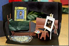Make your own Van Gogh's bedroom- think of who's room you would like to visit