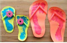 Summer Kids Craft Footprint Flip Flops is part of Summer crafts Preschool - SavingSaidSimply com EASY Summer Kids Craft Footprint Flip Flops Summer Crafts For Kids, Summer Kids, Projects For Kids, Diy For Kids, Craft Projects, Summer Art, Summer Crafts For Preschoolers, Summer Themes For Preschool, Craft Blogs