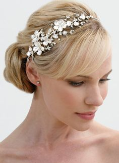 Regina B. -- T532 Impressive Floral Headband | Couture Wedding Headpieces