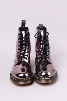 Black patent leather Doc Martens