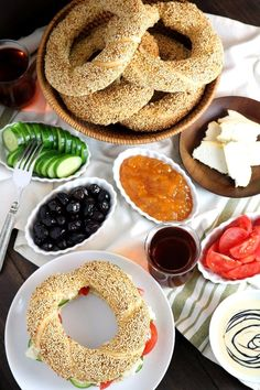 Simit is a delicious sesame bread sold in bakeries all over Turkey. It's not difficult to make them with this recipe for Homemade Simit! Lebanese Recipes, Turkish Recipes, Armenian Recipes, Scottish Recipes, Shops, Arabic Food, Bakeries, Meals For One, Sweet Recipes