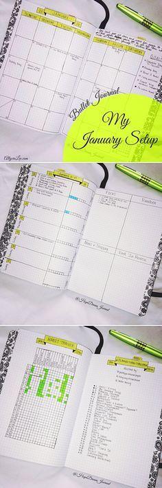 Bullet Journal: My January Setup ~ hopedreamjournal