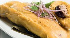 Tamales Caseros  Ingredientes:  1/2 kilo de maíz blanco pelado 1/2 kilo de chuleta de cerdo sin hueso 50 gramos de ají panca (especial) m