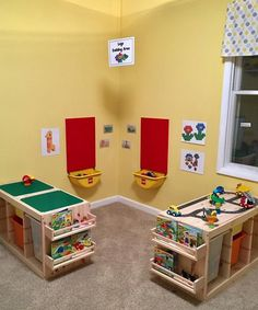 IKEA products for your home daycare, – kids playroom ideas Trofast Ikea, Lego Table With Storage, Diy Lego Table, Ikea Kids Table, Kids Play Table, Lego Room, Toy Rooms, Kids Corner, Kid Spaces