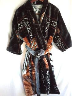 Minky Tiger Blanket Robe Thick Soft Warm Heavy Plush Unisex S-M Men M-L Women  #Unbranded #Wrapandtierobe