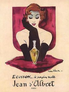 1954 French perfume ad